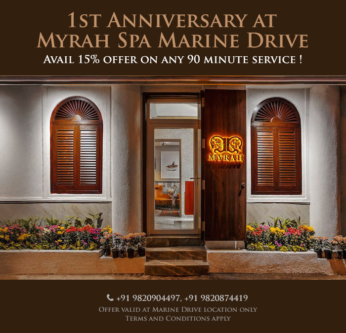 Happy Hours at Marine Drive Mon – Fri ( 11AM to 4PM ) - Avail 15% discount on any 90 minute massage therapy